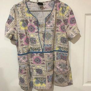 🎀 4/$15 Baby Phat Uniform Scrub Top Size L
